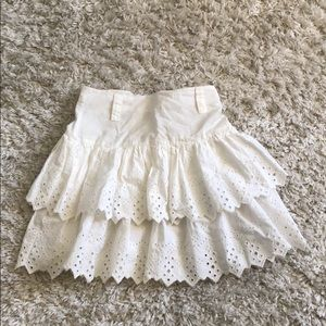 Top shop white summer skirt